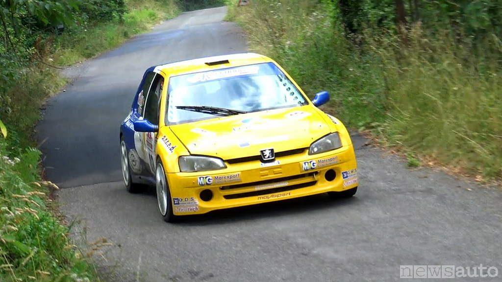 auto da corsa storiche Peugeot 106 rally