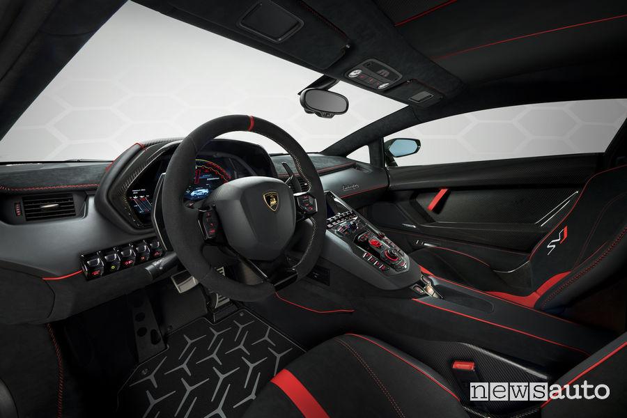 Lamborghini_Aventador SVJ abitacolo