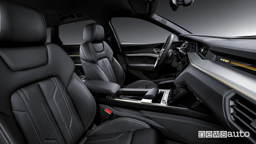 Audi e-tron, sedili anteriori