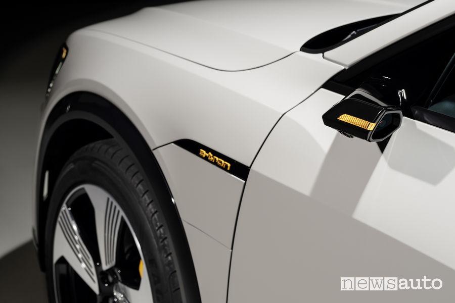 Audi e-tron beige, specchietto retrovisore virtuale