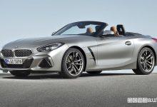Nuova BMW Z4 2019, vista di profilo