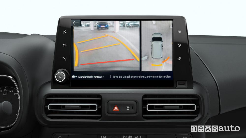 Opel_Combo Life 2019, immagini telecamera posteriore 180°