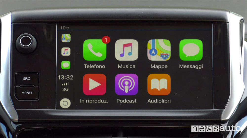 Peugeot_208 Signature, Apple CarPlay