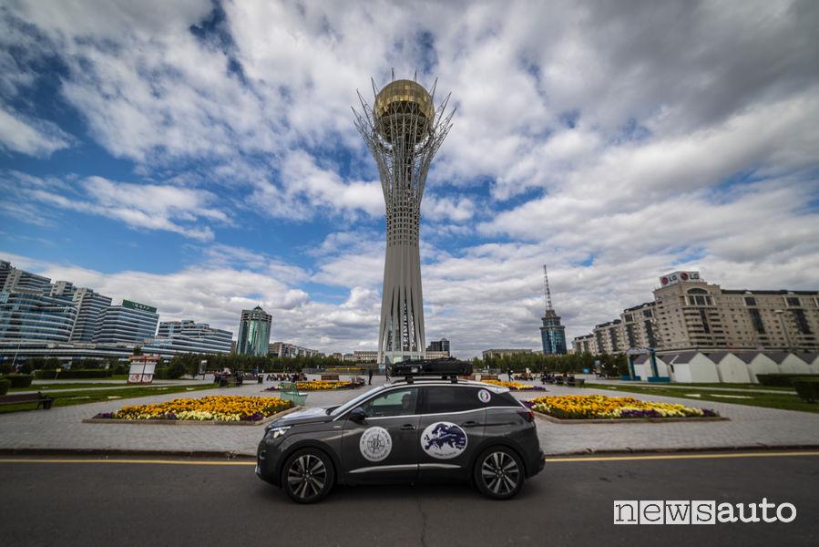 Peugeot 3008 sulla Via della Seta, arrivo ad Astana (Kazakistan)