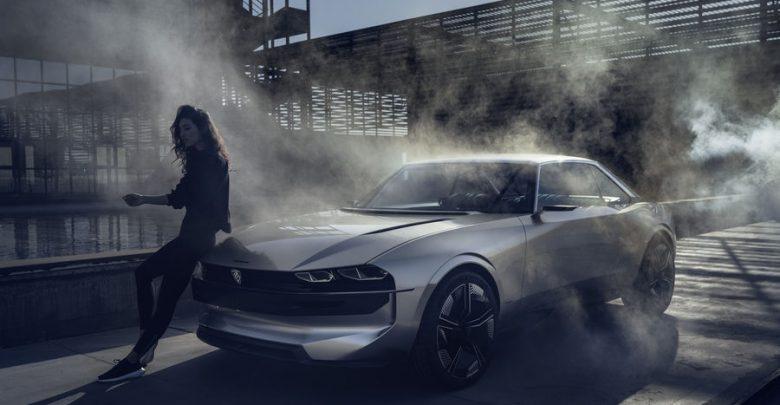 Peugeot e-Legend Concept, vista di profilo