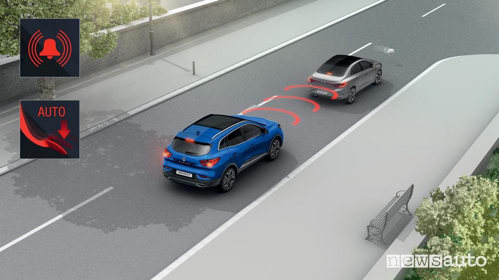 Nuovo Renault_Kadjar 2019, Cruise control adattivo con frenata d'emeregenza