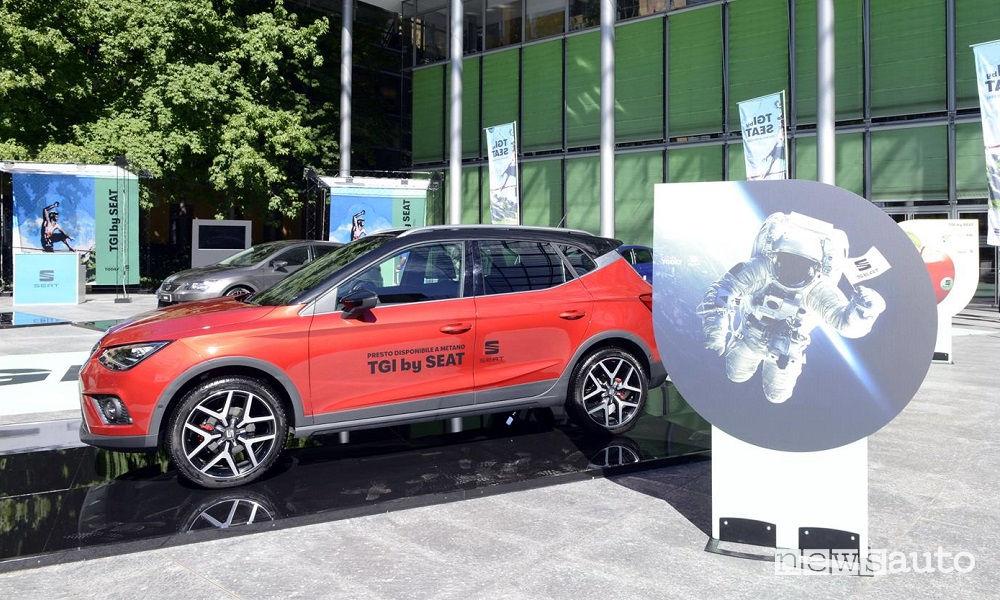 Metano auto Seat Arona TGI all'Italian Energy Summit 2018 di Milano