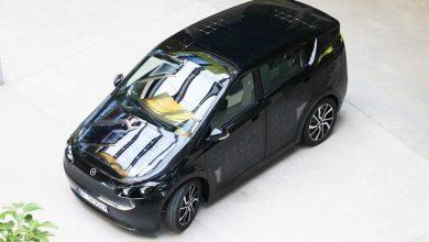 Sono Motors Sion auto elettrica vista dall'alto