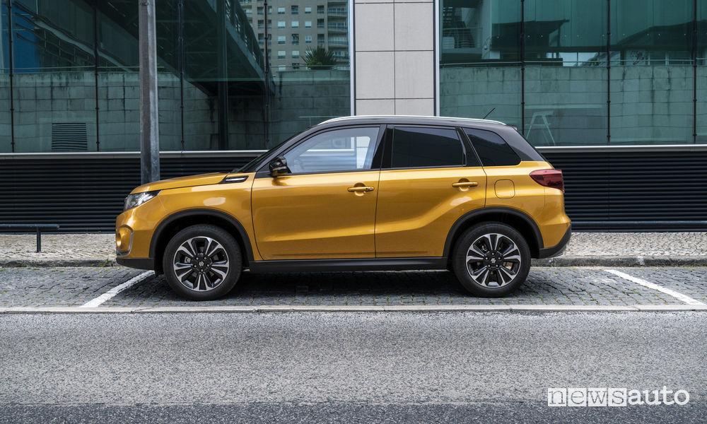 Nuova Suzuki Vitara 2019, vista laterale
