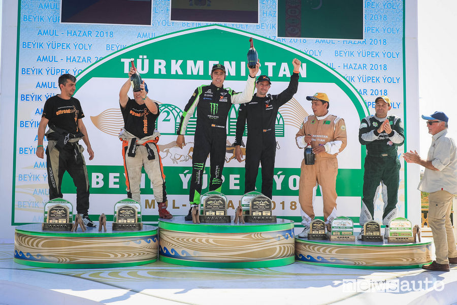 Classifica rally raid Turkmen Desert Race 2018, podio auto