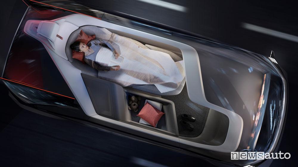 Volvo 360c, dormire all'interno