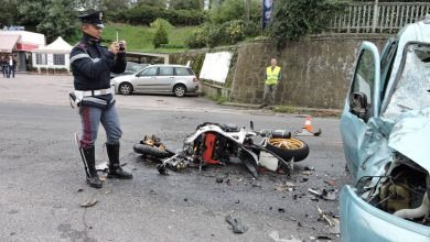 Incidente moto mortale