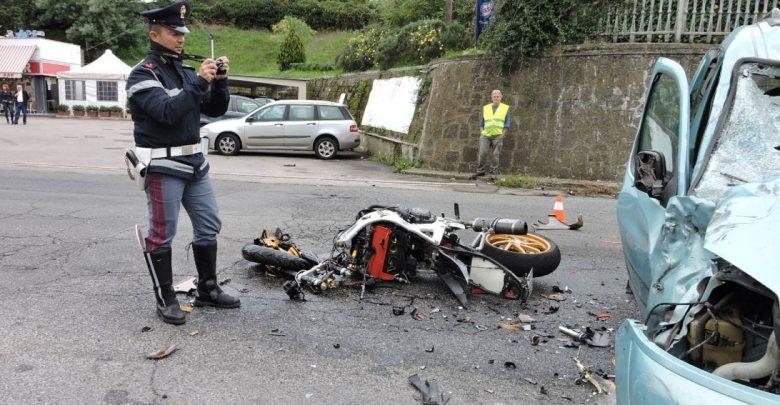 Incidente moto mortale
