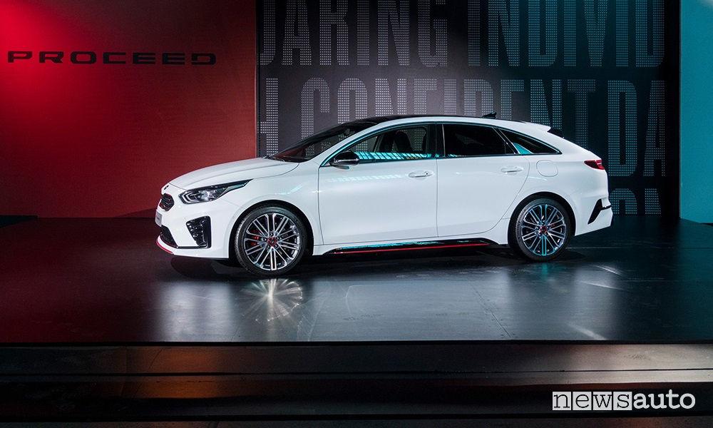 Kia Proceed 2019 GT, vista laterale