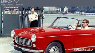 Pagina non trovata errore 404 Peugeot Italia