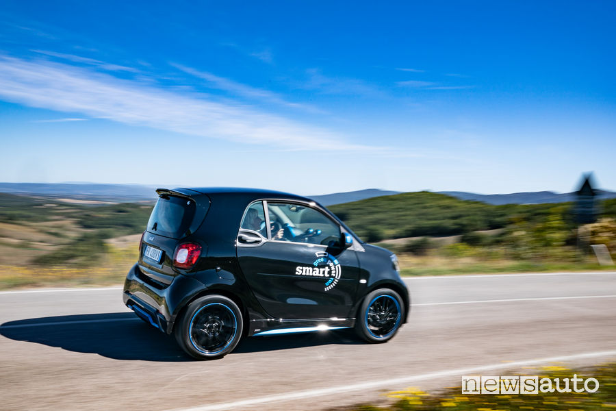 smart EQ elettrica alla green power run