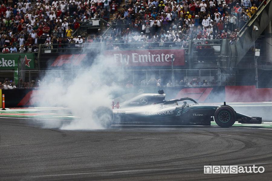 F1 2018 Gp Messico Hamilton (Mercedes-AMG) Campione del Mondo