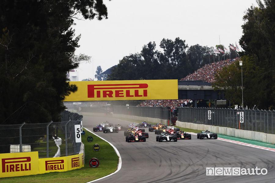 F1 2018 partenza Gp Messico