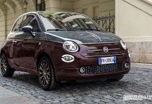 Fiat 500 Collezione cabrio, vista di profilo
