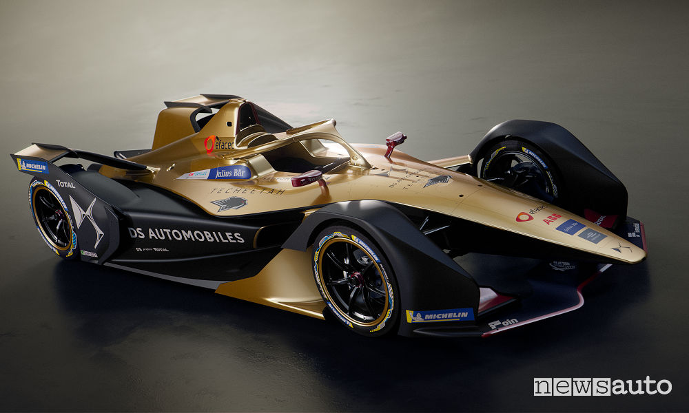 DS E-Tense FE 19 Formula E 2018/19, vista di profilo