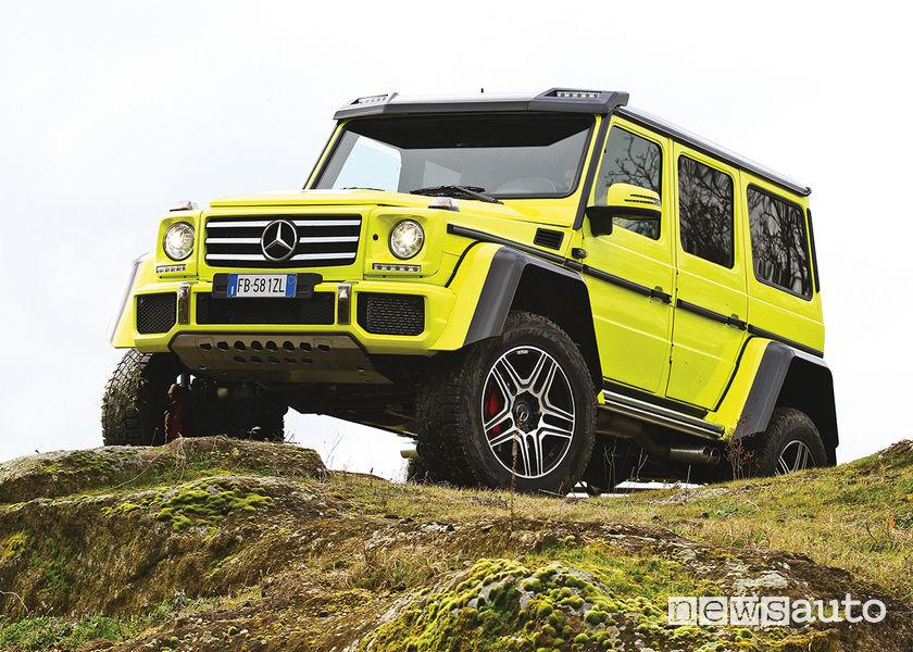 Mercedes G500 4x4² (al quadrato), vista di profilo