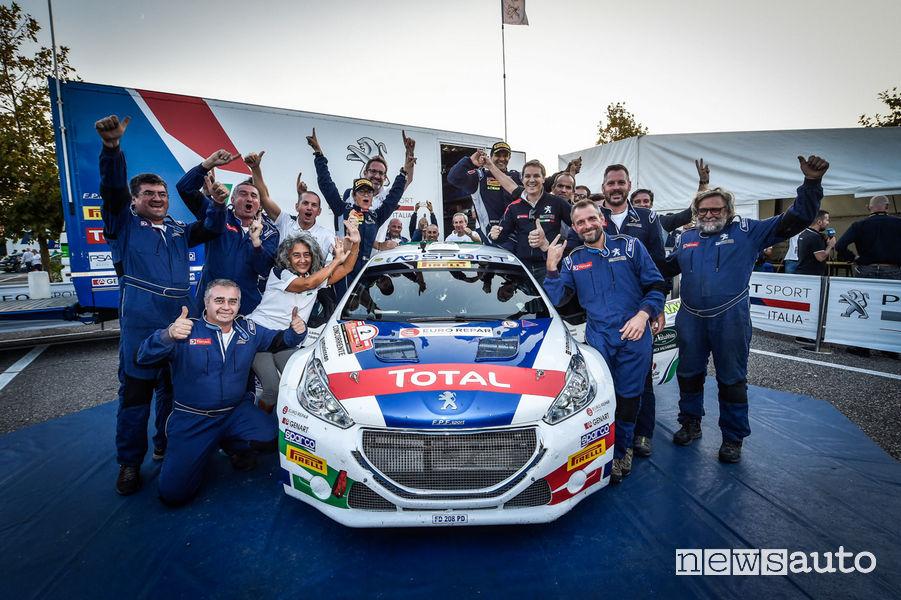 Andreucci e Peugeot Campioni Italiani Rally 2018