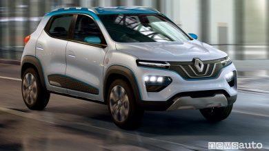 Auto elettrica economica Renault K-ZE Concept