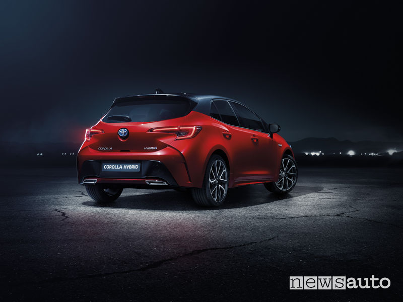 Toyota_Corolla 2019, vista posteriore