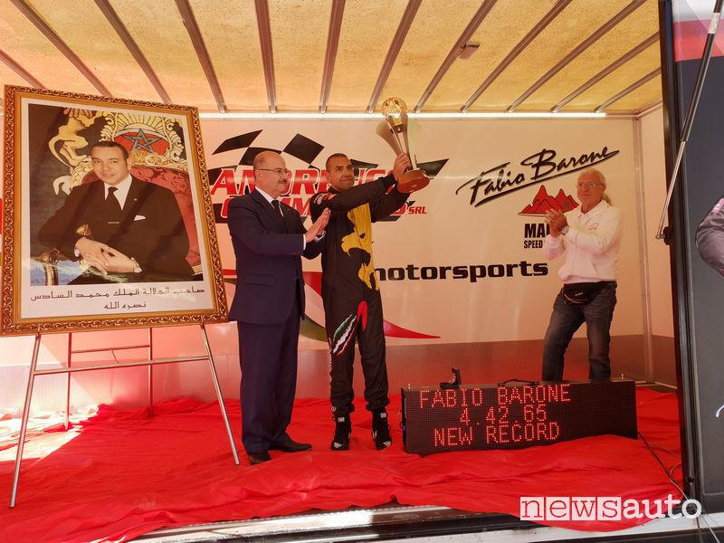 Fabio Barone Record mondiale Ferrari in Marocco