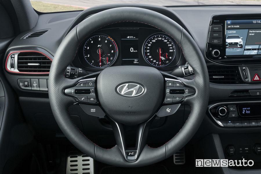 Hyundai_i30 Fstback N 2019, plancia strumenti