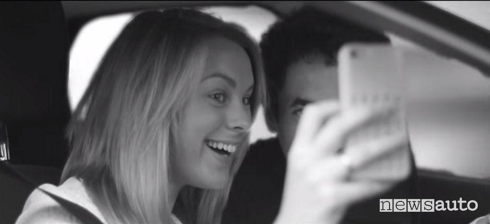 selfie alla guida
