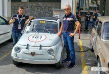 Marco Paternostro e Eris Tondelli al via della gara di regolarità Targa Florio Classica 2018 su Abarth 500