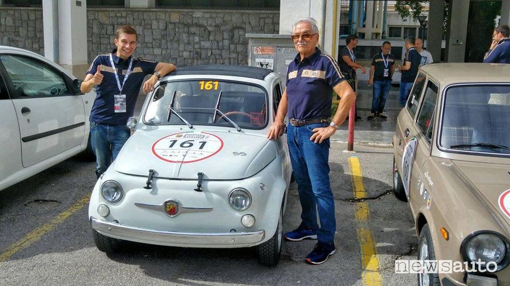 Marco Paternostro e Eris Tondelli al via della Targa_Florio Classica 2018 su Abarth 500
