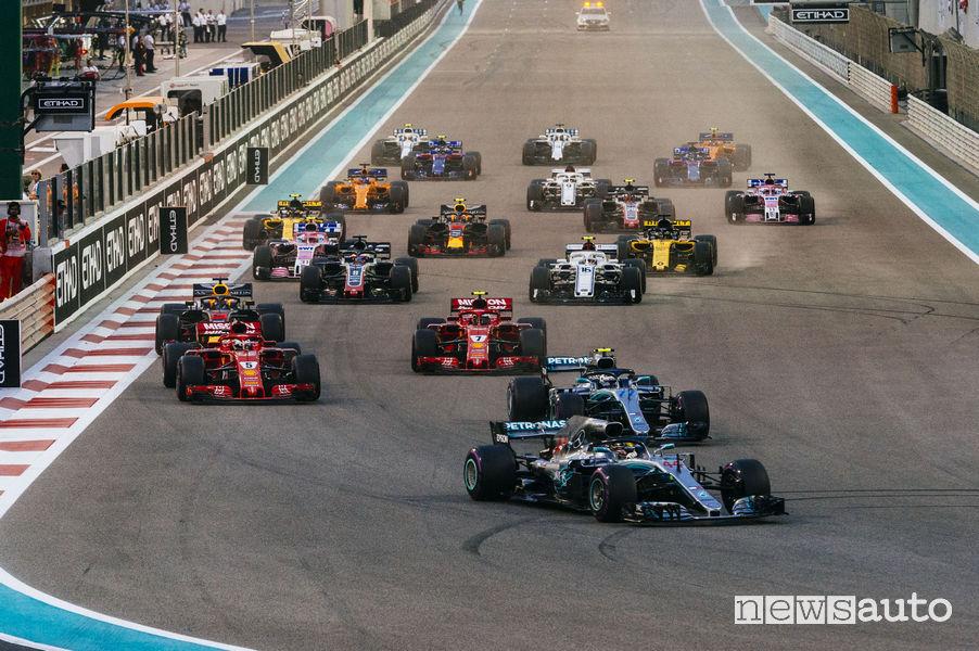 F1 2018 partenza Gp Abu Dhabi