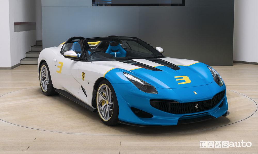 Ferrari SP3JC One Off, vista di profilo