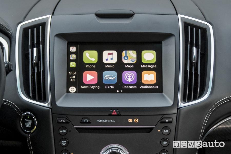 Nuovo Ford_Edge 2019 Vignale, SYNC 3 Apple CarPlay