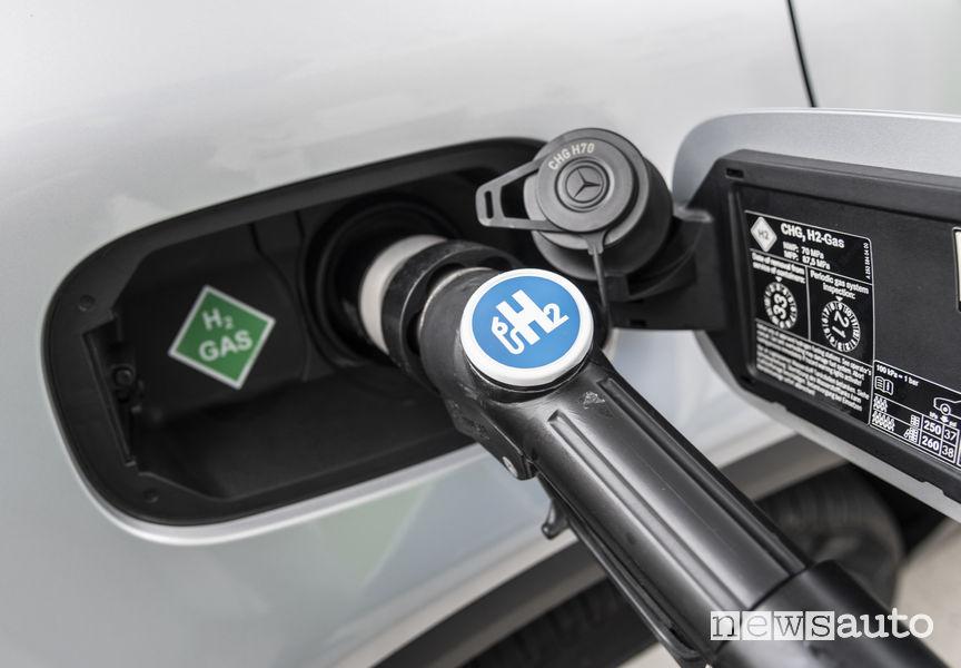 Mercedes-Benz GLC F-Cell, ricarica idrogeno