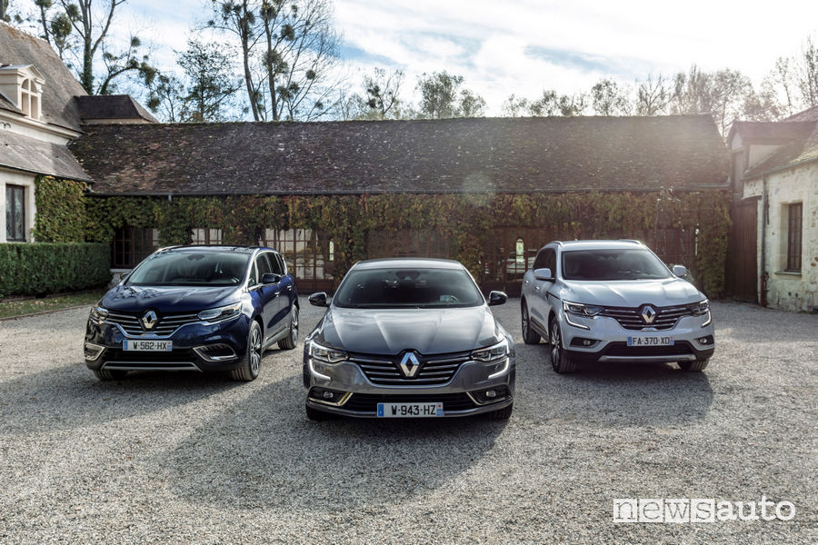 Renault Espace, Koleos, Talisman segmento D