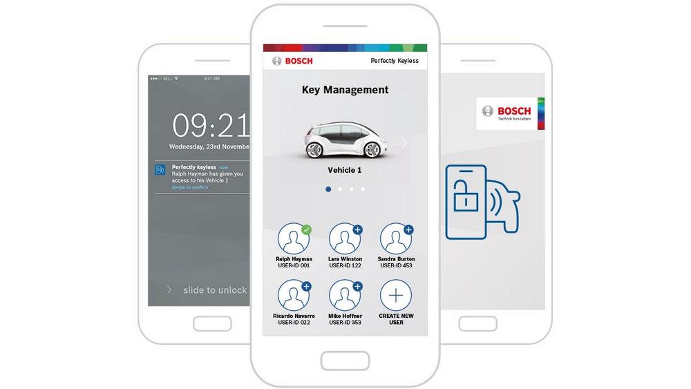 Aprire l'auto con lo smartphone Bosch Perfectly Keyless