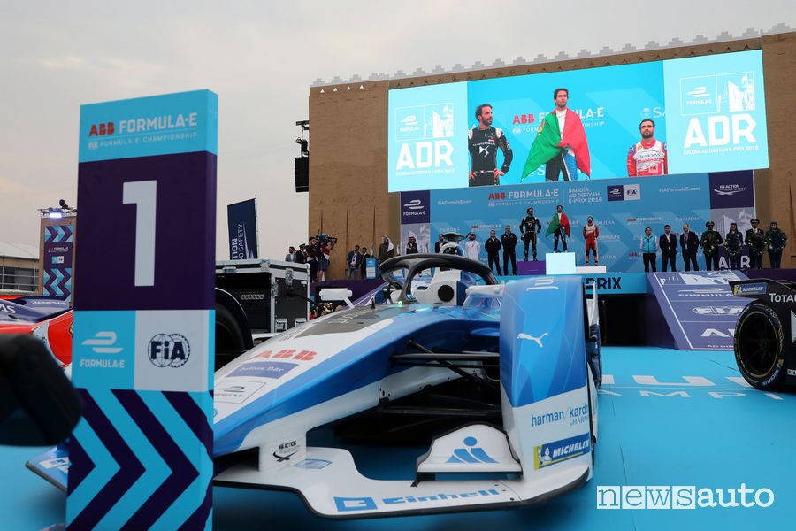 Formula_E 2019 Arabia Saudita, podio Da Costa BMW Andretti Autosport