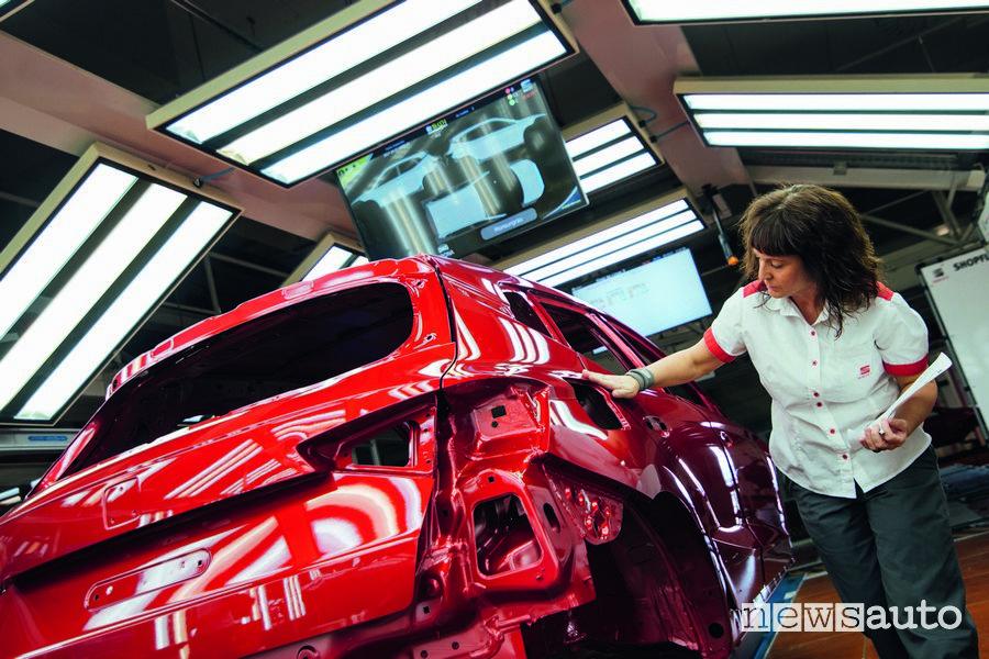 Produzione auto Seat nel sito di Martorell