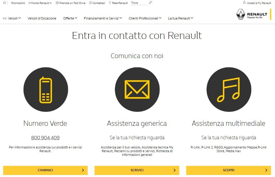 Numero Verde Renault Italia Info E Contatti Newsautoit