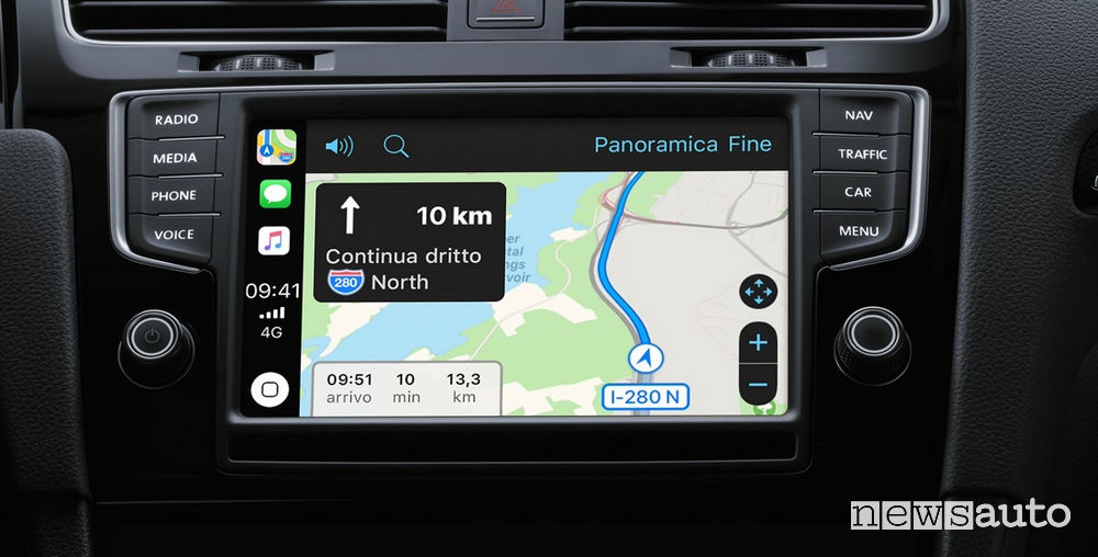 Mappe su Apple CarPlay