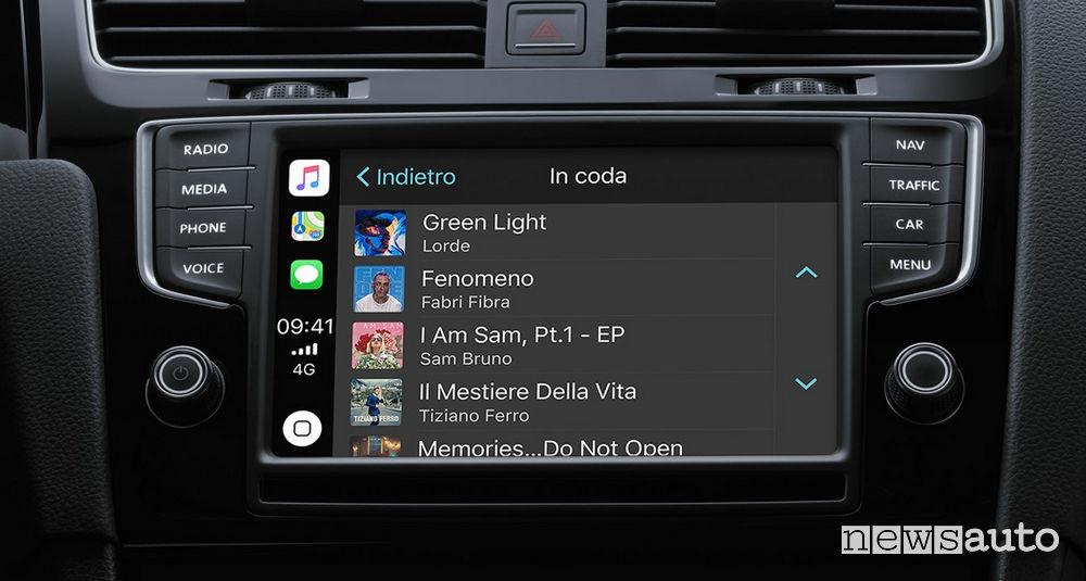 Musica su Apple CarPlay APP