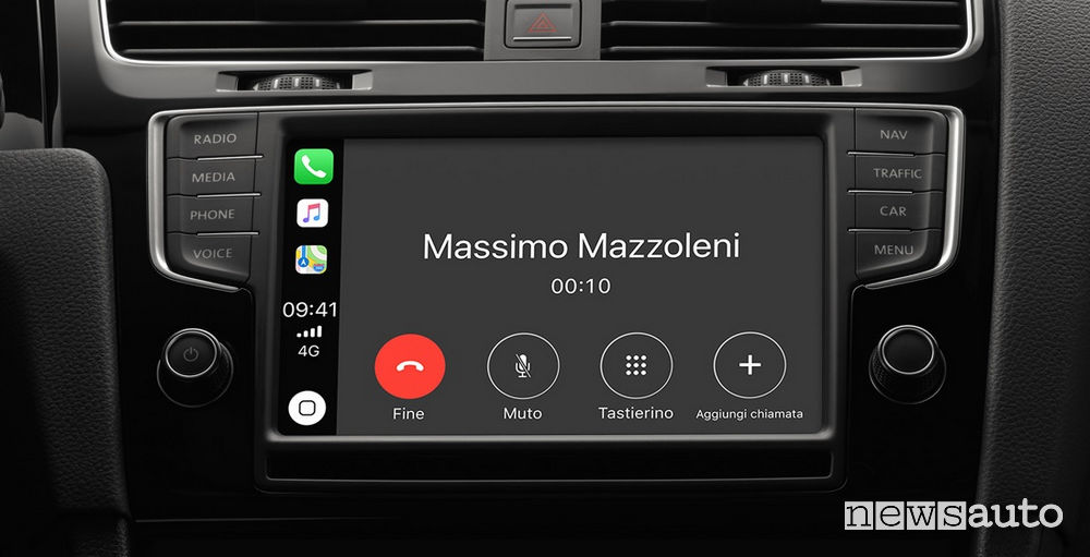telefono su Apple CarPlay