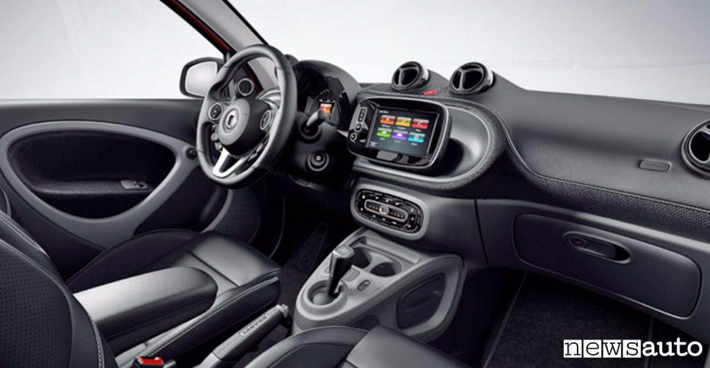 10 auto elettriche più vendute in Italia Smart ForFour interni