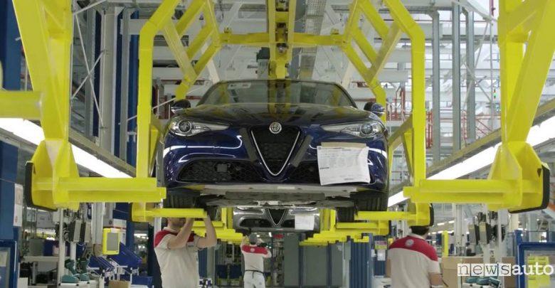 Auto ibride Alfa Romeo FCA Cassino