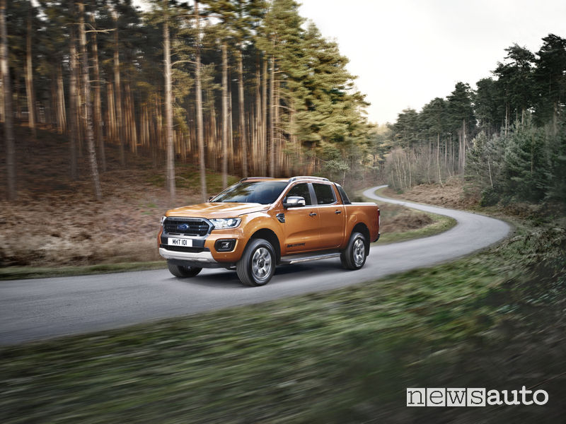 Ford Ranger Wildtrak 2019, vista laterale