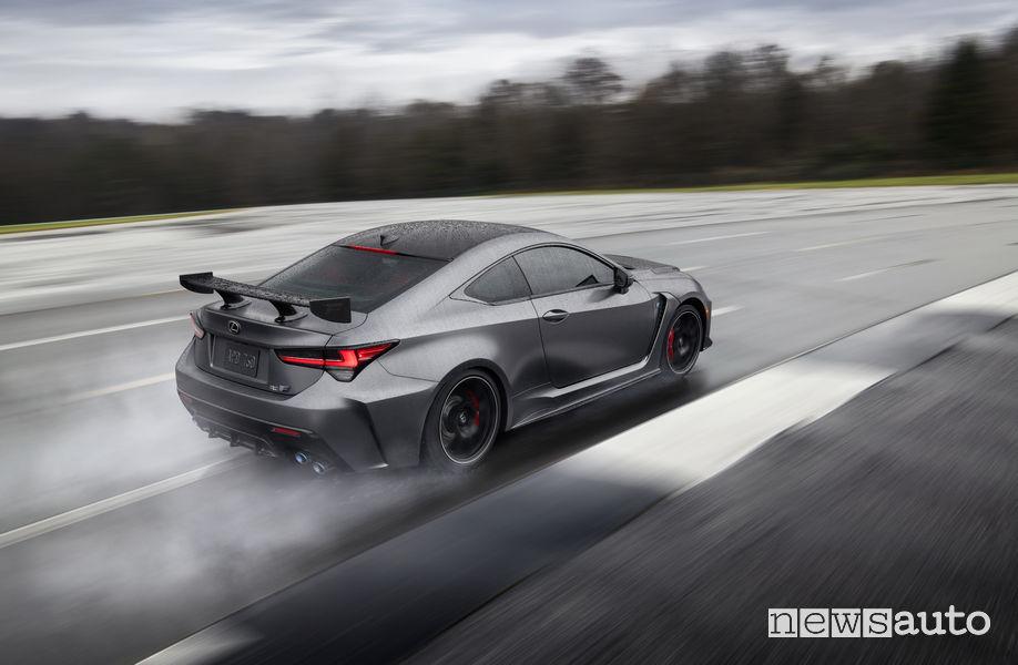 Lexus RC F Track Day, vista posteriore