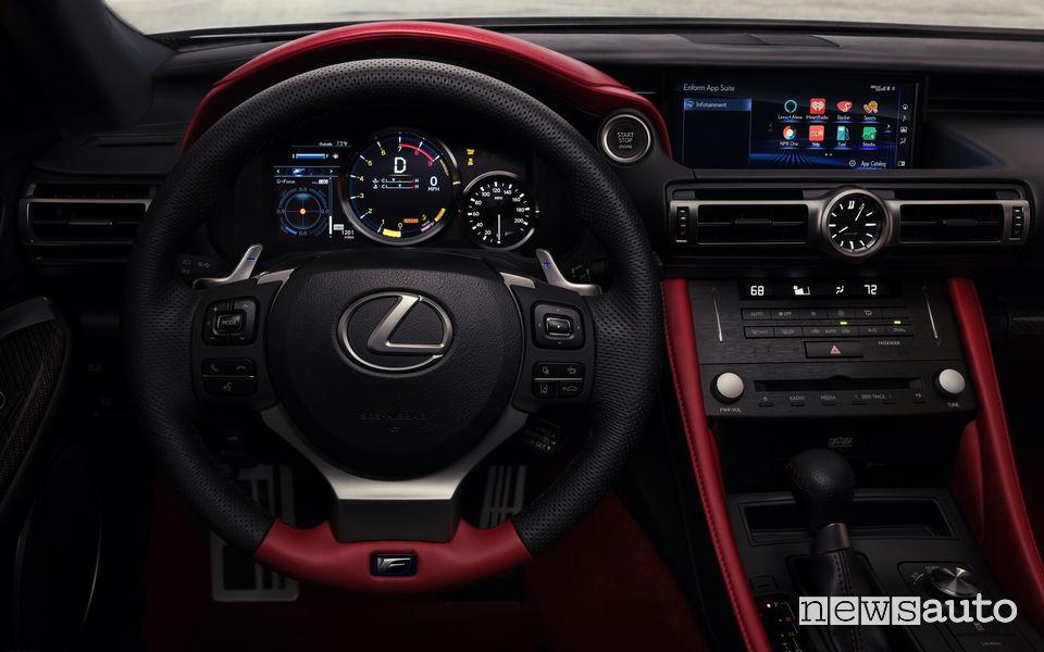 Lexus RC F Track Day, plancia strumenti